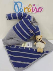Saida De Maternidade Bebê Menino Paraiso Macacão Cod 9645