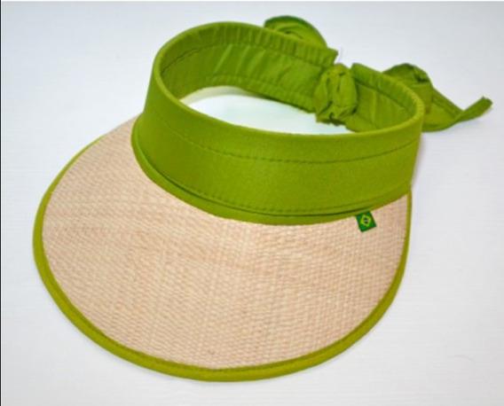Chapéu Viseira Com Aba Em Palha Moda Praia Verde 2020