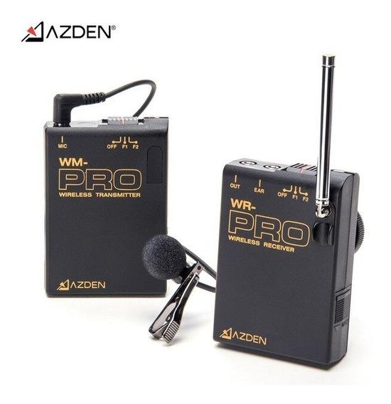 Microfone Azden Sem Fio Pra Camera La Pela E Mic De Mão