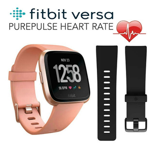 Fitbit Versa Reloj Deportivo Inteligente Melocotón Oro Rosa
