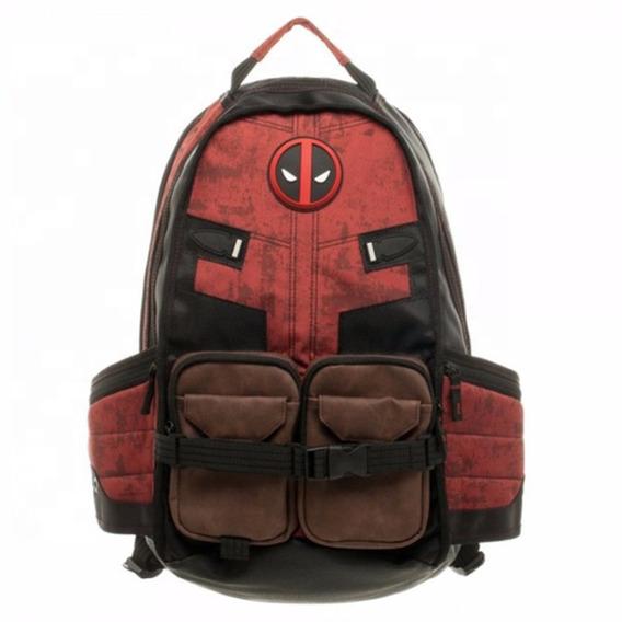 Mochila Deadpool Marvel Unisex Escolar Laptop Viaje Nueva