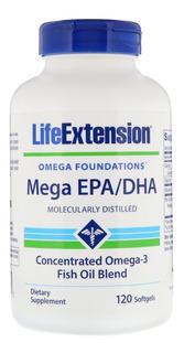 Mega Epa 720mg Dha 480mg Mega Omega 3 Da Life Extension Full