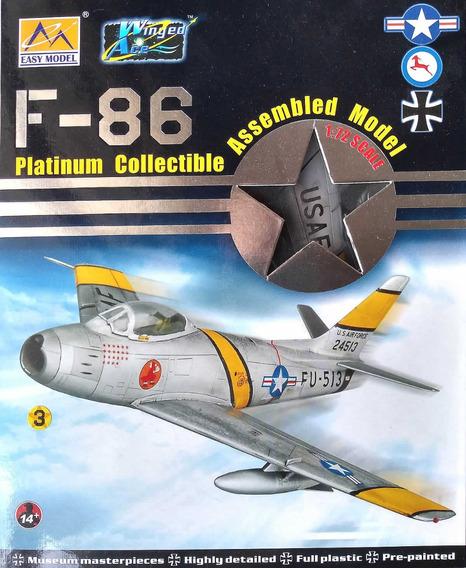 Miniatura Avião F-86 Sabre Billie Margie 1/72 Easy Model