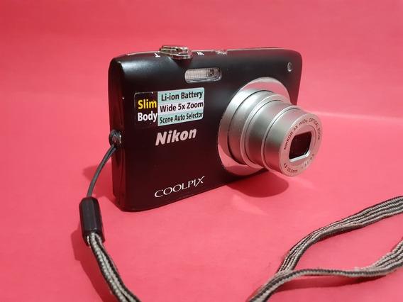 Câmera Nikon Coolpix S2600 Preto
