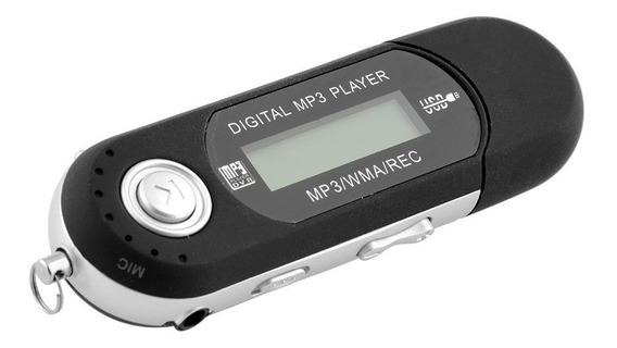 Mp3 Player 2 Gb Usb Rádio Fm Gravador Pen Drive À Pilha