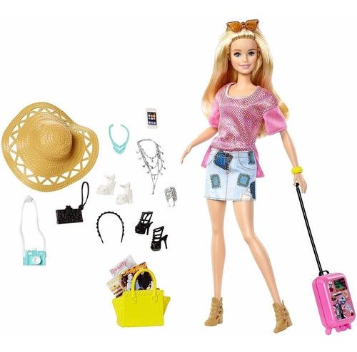 Barbie Pink Passport Vacation Barbie Muñeca De Vacaciones