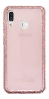 Funda Samsung A30 Tpu Diseño Glitter Rosa