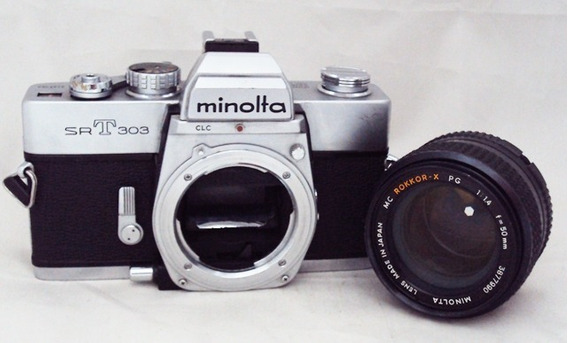 Câmera Minolta Srt 303 Com 50mm F/1,4 Rokkor