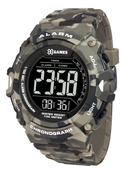 Relógio Masculino Digital Camuflado X-games Prova D