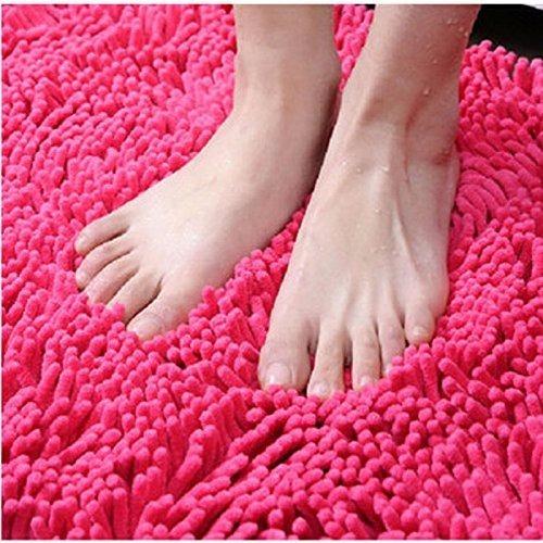 Ultra Suave de Microfibra Nanrui Alfombra Ba/ño Antideslizante Alfombrilla de Ba/ño Absorbente Alfombra Pies de Chenilla F/áciles de Limpiar para Ba/ño Beige