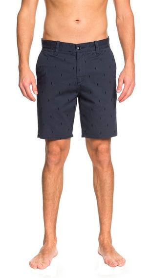 Short Bermuda Casual Para Hombre Azul Marino Quiksilver