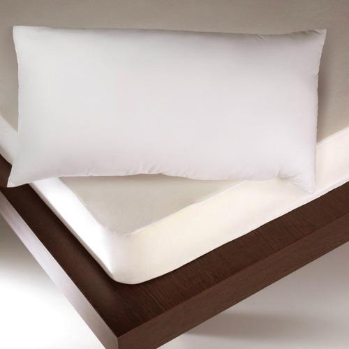 Combo Protector Colchón Soft Doble + Almohadas