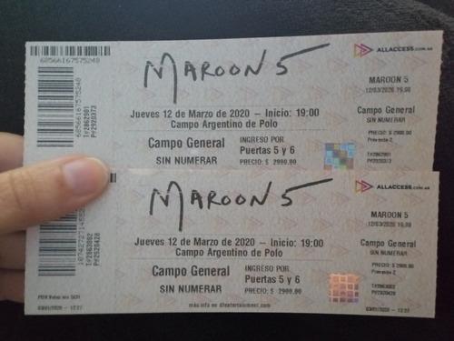2 Entradas A Marrón 5 En Buenos Aires. Marzo 2021