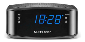 Radio Relógio Alarme Multilaser Digital Sp288 Oferta Loi