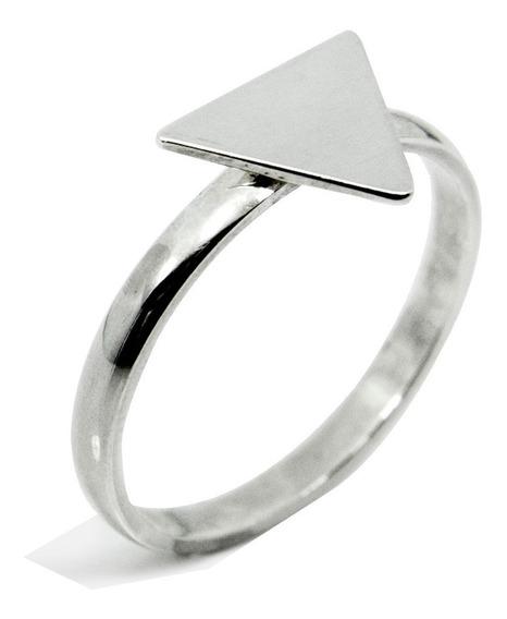 Anel Triangulo Feminino Aparador Prata 950