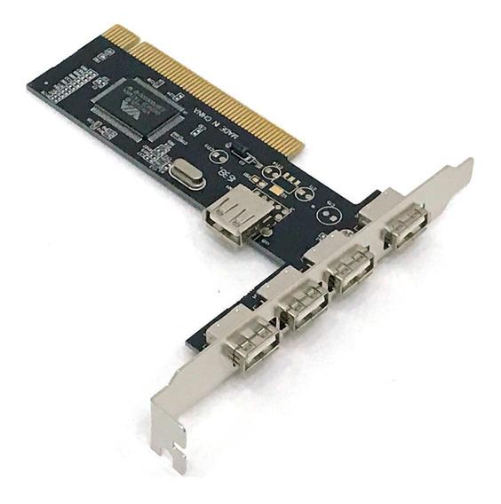 Placa Pci Usb Para Pc 2.0 Com 5 Portas Dp-52