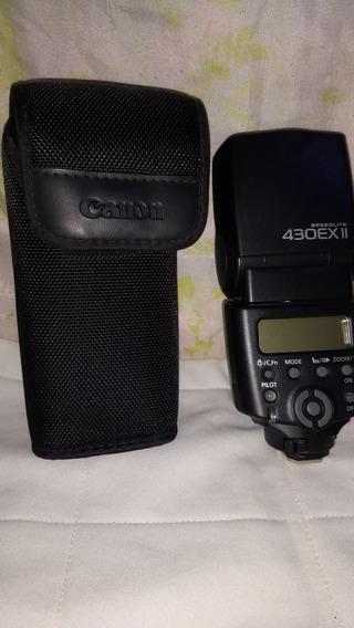 Flash Canon 430exll + Carregador Com 4pilhas Como Novos