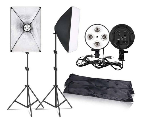 Kit Parante Socket Focos Fotográfico Softbox Para Video Rl06