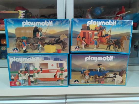 Boneco Antigo Playmobil Western Soldado Carroça Diligência