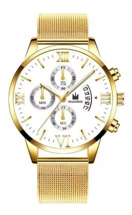 Reloj Analógico Marca Shaarms Luxury Para Hombre
