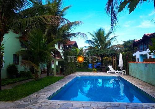 Casa Térrea Em Villágio À Venda, 58 M² Por R$ 380.000 - Morada Da Praia - Bertioga/sp - Ca0099