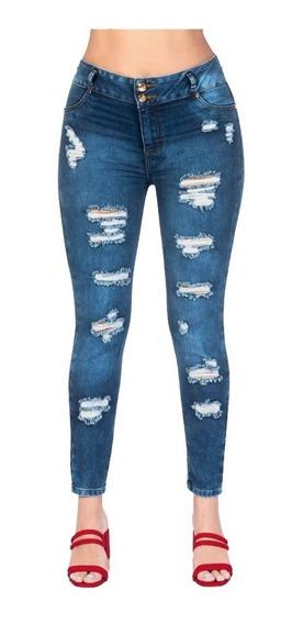 Jeans Levanta Pompas Detalla Destrucción Deslavado