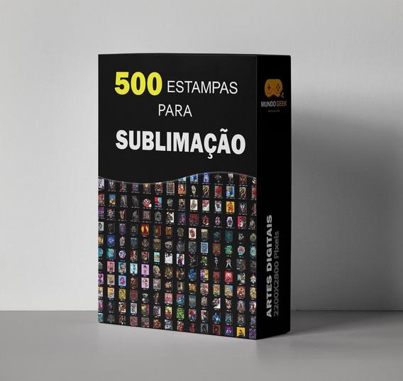 500 Estampas Para Sublimação Total + 50 Mockups Em Psd