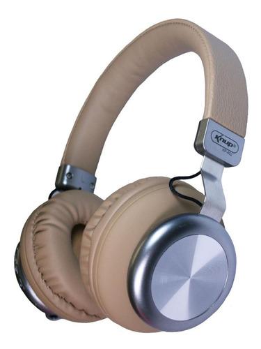Fone de ouvido sem fio Knup KP-452 bege