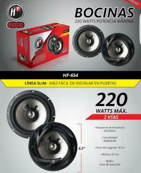 Bocinas Redondas 6 1/2 Hf Audio Modelo Hf-654