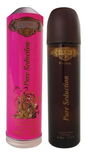 Perfume Cuba Feminino Pure Seduction Edp Prime 100ml Charuto