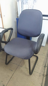 Cadeira Escritório Azul Fixa