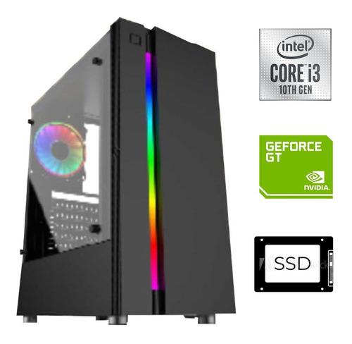 Imagen 1 de 6 de Cpu Gamer Intel Core I3-10100, Ssd 480gb, 8gb, Nvidia 2gb.