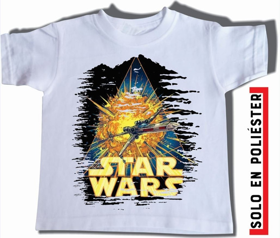 Playera Blanca Star Wars Varias Tallas