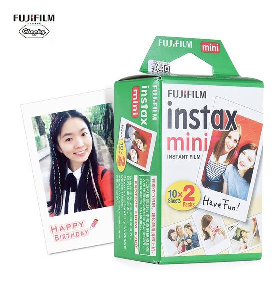 Fujifilm Instax Mini 20 Folhas Papel Fotográfico Branco