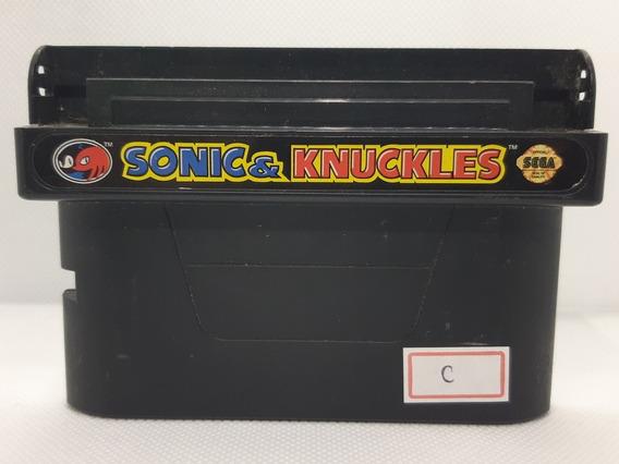 Sonic And Knuckles Original Sega Mega Drive Genesis Ref.c