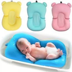 Almofada De Banho Bebe Boia Banheira Buba Azul Rosa Menina