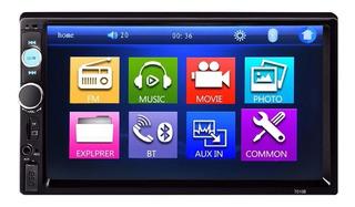 Autoestéreo Táctil De 7-inch Con Bluetooth Y Reproductor Mp5