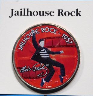 Moneda Conmemorativa Peliculas De Elvis Presley Jailhouse Ro