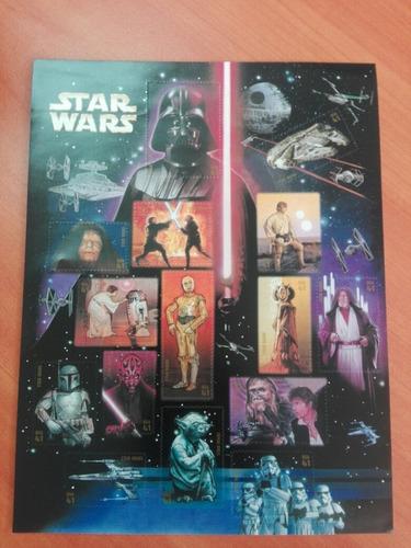 Imagen 1 de 10 de Timbres Filatelia Star Wars 30 Aniversario