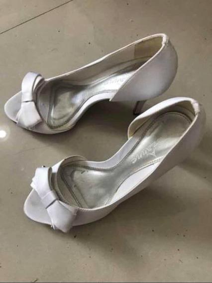 Sapato De Festa Branco Nr 33