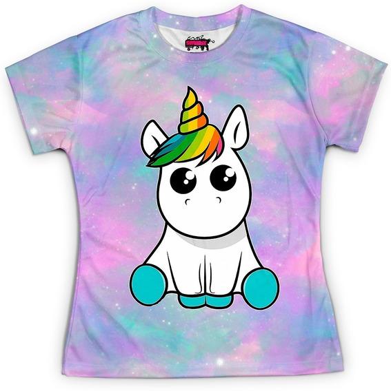 Camiseta Baby Look Feminina Unicórnio