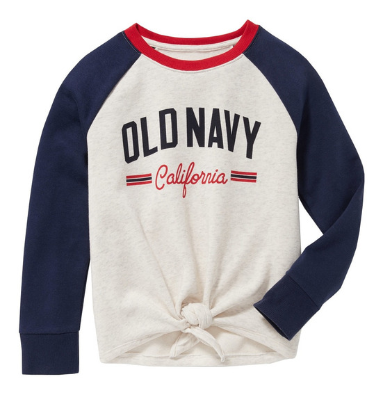 Sudadera Niña Cerrada Logo Estampado Cuello Redondo Old Navy
