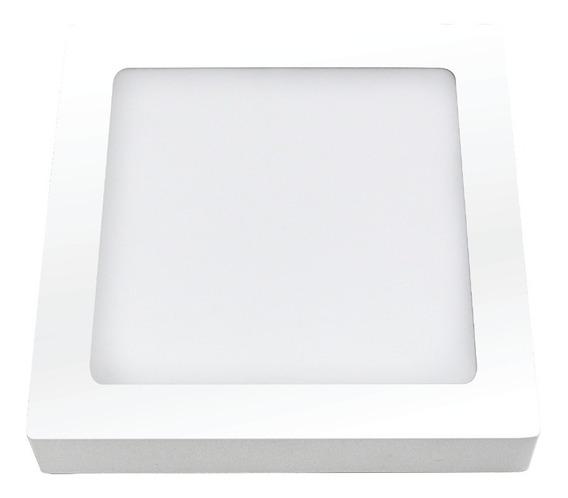 Plafon Quad Led - Sobrepor - 24w Biv 6400k - 03213 - Ourolux