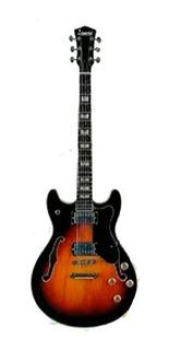 Guitarra Electrica Leonard Jz33 De Caja Tipo 345 Sunburst