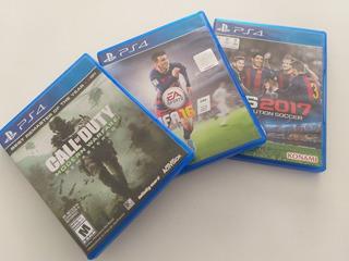 Juegos Ps4, Call Of Duty- Fifa 16 - Pes2017