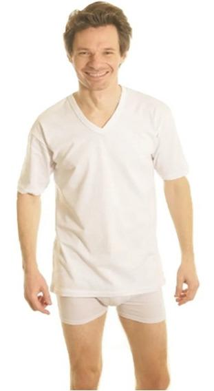 Camiseta Termica Manga Corta Escote V