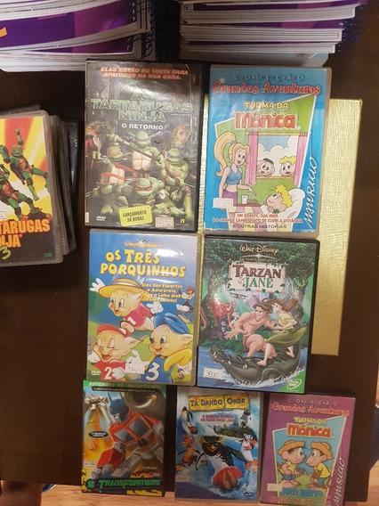 7 Filmes Infanto Juvenil Dvd Original Frete $ 15