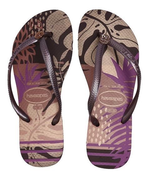 Sandálias Havaianas Slim Foliagem Berinjela 4141480-2967