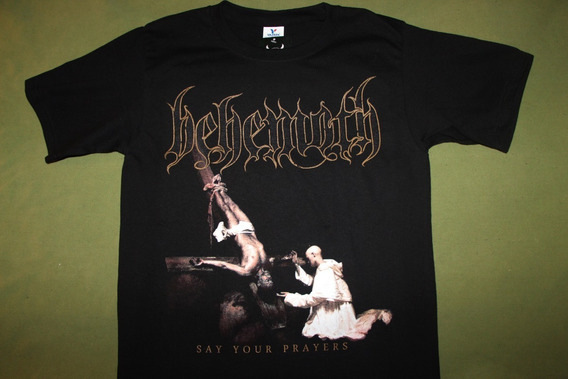Gusanobass Playera Metal Rock Behemoth Prayers Black Death