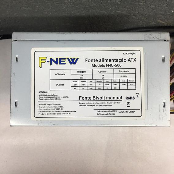 Fonte Nominal F-new Model: Fnc-500 24pinos 230w Sata